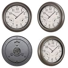 la crosse technology wt 3181pl int 18 inch atomic outdoor clock with temperature