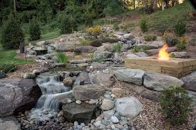 Stacked Stone Fire Pit fire pit inspiring natural rock fire pit design garden patio 7122 by xevi.us