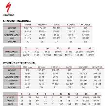 Jump Specialized Mountain Bike Size Chart To Mens Sizing