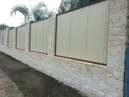 corrugated metal fence corrugated metal fencing n n corrugated metal fence diy