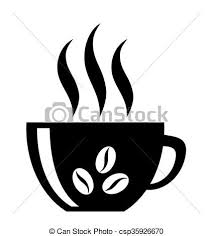 coffee cup silhouette vector. Simple Cup Coffee Cup Silhouette Isolated  Csp35926670 In Cup Silhouette Vector