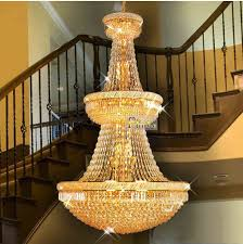 large gold chandeliers large foyer crystal chandelier light fixture gold chrome