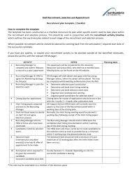 Recruiting Plan Template Draft Recruitment Template