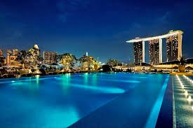infinity pool singapore. The Fullerton Bay Hotel Infinity Pool Singapore D