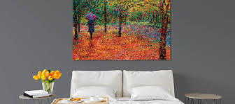 canvas wall art for scenic bedroom