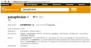 Paraphrasing Virtual Library