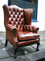 vintage tufted leather wing chair at 1stdibs wingback chairs for leather wingback chairs leather wingback