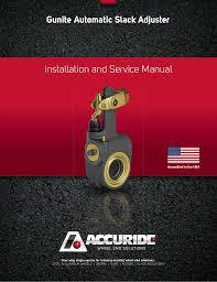 Gunite Automatic Slack Adjuster Service Manual