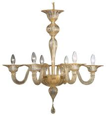 doge murano glass chandelier gold