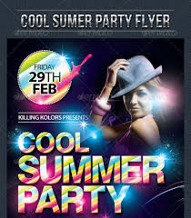 Summer Party Flyers 30 Vibrant Colorful Party Flyer Templates Web Graphic Design