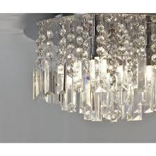 bathroom chandelier lighting. evros flush fitting bathroom chandelier light ip44 lighting