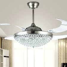 fan with crystal light chandelier ceiling fans new stunning fan cool inside intended for with prepare