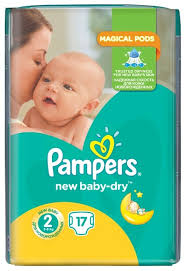 <b>Pampers подгузники New</b> Baby-Dry 2 (3-6 кг) 17 шт. — купить по ...