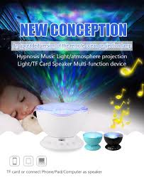 Wave Light Projector 1pc Remote Control Night Light Upgraded Ocean Wave Light Projector 7 Colors With Bulit In Speaker Support Tf Card