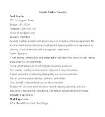 Cashier Resume Samples Fast Food Cashier Resume Examples For ...