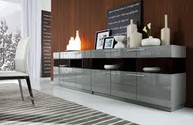 modern grey gloss buffet