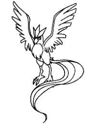 Small Picture Articuno Pokemon Coloring Sheets Images Pokemon Images