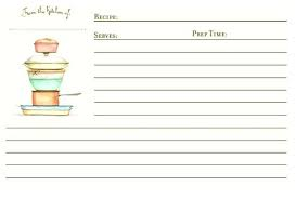 recipe card template printable cookbook page free cover
