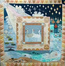 Fabric With Pictorial Design The Three Norns 204 X 204cm 1995 Sheena Norquay Quilts