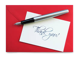 Thank You Note Endowed Photo Letter Job The Handwritten After An