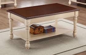 ... Coffee Table, Exciting Brown Rectangle Antique White Coffee With  Storage Table Idea To Decorating Living ...