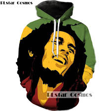 <b>PLstar Cosmo Hoodies Men</b> Women Reggae Star Bob Marley 3D ...