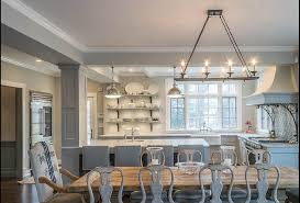 reclaimed trestle dining table with gray gustavian dining chairs and french burlap dining chairs