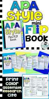 Apa Style 6th Edition Mini Flip Book Secondary Ela Resources