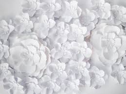 White Paper Flower Wall 27 White Paper Flowers Backdrop Small Paper Flowers Nursery Etsy