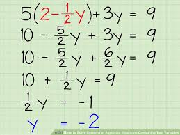 algebraic equations two variables awesome 3 ways to solve systems of algebraic equations containing two variables