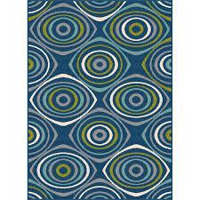 5 x 7 medium geometric navy blue indoor outdoor rug garden city rc willey furniture