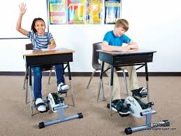 under desk pedal cycle quiet for minimal distractions in the classroom