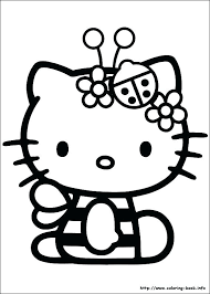 Kitty Color Page Free Printable Hello Kitty Coloring Pages