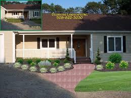home landscape designs. landscape design, front of home planting bed westport, ma designs