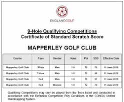 Golf Slope Conversion Chart World Handicap System 2020 Mapperley Golf Club