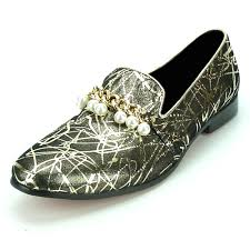 Aurelio Garcia Designer Shoes Fi7215 Gold Leather Gold Chain With Pearls Fiesso By Aurelio Garcia Loafer