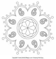 Small Picture Diwali Colouring Pages