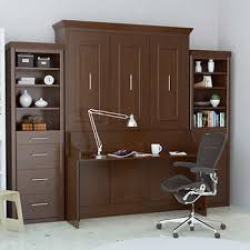 office with murphy bed. Bed \u0026 Room Porter Queen Portrait Wall With Desk And Two Side Towers In Walnut Office Murphy I