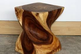 best wood for furniture. Wonderful End Table Big Twist Natural Wood Furniture Walnut Finish Carved Ideas Best For N