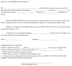 30 day notice to landlord form maine 30 day notice to terminate tenancy ez landlord forms