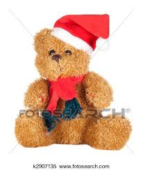 beautiful teddy bear with scarf and