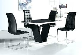 black high gloss dining table white high gloss dining table and 4 chairs white black gloss