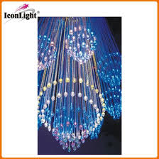 hot fiber optic chandelier with crystal icon fc 07