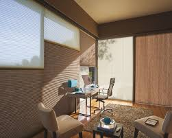 applause honeycomb shades with vertiglide on patio door duolite on windows applause vertiglide office