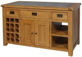 lyon oak kitchen island with granite top