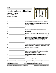 Fun Ways to Learn About Newton's Laws of Motion   Word search ...