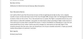 Letter To Airline Complaint Letter To An Airline Writeletter2 Com