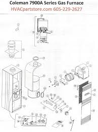 7956a856 coleman gas furnace parts tagged \