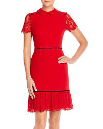 Banded Lace Detail Dress
