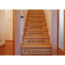 Stairs Quotes Interesting Shop Stair Quotes Stairway Love Quote I'm In Love With Your Smile